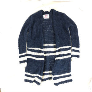 Justice Girls Duster Sweater Open Front Striped 7